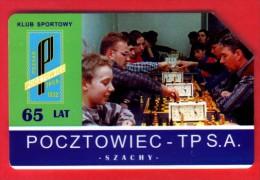 Schaken Schach Chess Ajedrez échecs - Telefoonkaart Polen - Jeux