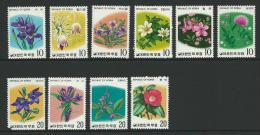 1975 Flowers  Set 10 Complete MUH SG Catalogue  No´s 1161/1162, 1171/1172, 1184/1185, 1199/1200 & 1213/1214 - Korea, South