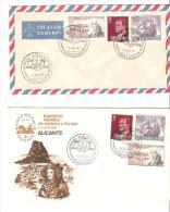 2 Cartas Con Matasellos Cartagena - 1931-Hoy: 2ª República - ... Juan Carlos I