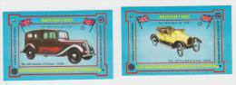 2x ´British Cars´ : HUMBER/HUMBERETTE - Auto/Car/Voiture - England - 2 Matchboxcovers ´The Britannia Match Co., London´ - Luciferdozen - Etiketten