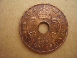 BRITISH EAST AFRICA USED TEN CENT COIN BRONZE Of 1949  - GEORGE V. - British Colony