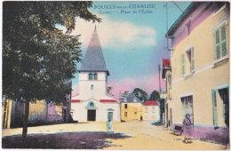 42. POUILLY-SOUS-CHARLIEU. Place De L'Eglise - Autres Communes