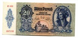Hongrie Hungary Ungarn 20 Pengo 1941 UNC # 3 - Hongrie