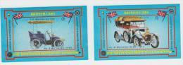 2x ´British Cars´ :  WOLSELEY  - Auto/Car/Voiture - England - 2 Matchboxcovers ´The Britannia Match Co., London´ - Luciferdozen - Etiketten