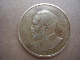 KENYA 1968 FIVE CENTS   KENYATTA Nickel-Brass  USED COIN In GOOD CONDITION. - Kenya