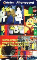 AUSTRALIA $10 DISABLE PEOPLE ART PAINTINGS WOMAN AUS-500 READ DESCRIPTION !!!! - Australia