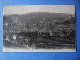 65-LOURDES Vue Générale , écrite Au Verso Et Circulée En 1919 , Dos Vert , 2 Scans - Lourdes