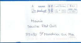 Mairie - EMA (1254) 04 BARCELONNETTE - Marcophilie (Lettres)