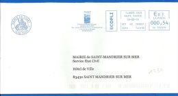 Mairie - EMA (1280) 74 PASSY - Marcophilie (Lettres)