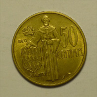 Monaco 50 Centimes 1962 # 2 Qualité / HIGH  GRADE - Monaco