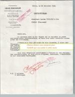 Entête Du 12/12/1945 LOUIS ROEDERER Champagne - Reims - Alimentare