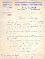 BOUCHES DU RHÔNE - AIX EN PROVENCE - COUTELLERIE ORFEVRERIE - J-C DAUNIS - LETTRE - 1959 - 1950 - ...