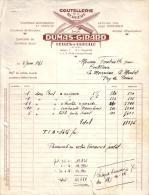 PUY DE DOME - CELLE SUR DUROLLE - COUTELLERIE DE LA BERGERE - COUTEAUX SCOUT , BOUCHERS - DUMAS - GIRARD - 1956 - 1950 - ...
