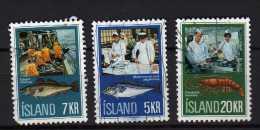 Islande Y&t N° 400.411.412.obliterés  Année 1968 (249) - 1944-... Republik