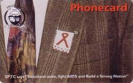 Télécarte à Puce Swaziland - Santé Médecine - Lutte Contre Le SIDA - FIGHT AGAINST AIDS Africa Phonecard - 76 - Swaziland