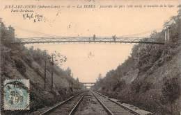37 - Joue-les-Tours - La Borde, Passerelle Du Parc, Côté Nord Et Tranchée De La Ligne Paris-Bordeaux - France