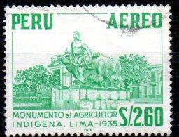 PERU 1962 Agriculutural Monument Lima -  2s.60 - Green   FU - Peru