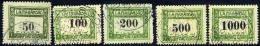 WEST HUNGARY Lajtabansag 1921 Postage Due Set Of 5 Used.  Michel 1-5 - Impuestos