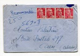 PARIS 92    R  VIGNON   Env. Recom. Provisoire  Du 08/10/1946  3 Ième échelon - Marcophilie (Lettres)
