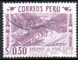 PERU 1952 Inca Maize Terrace - 50c. - Purple   FU - Peru