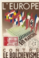 CARTE LEGION TRICOLORE . EXPO ANTI BOLCHEVIQUE - Marcophilie (Lettres)