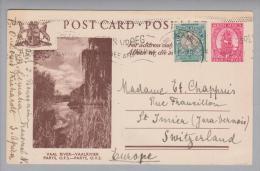 South Africa Bildpostkarte 1948-11-24 Lemana Nach St.Imier CH Bild Vaal River Parys OFS - Autres