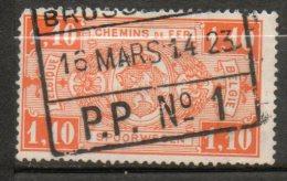 BELGIQUE Colis Postaux 1,10f Orange 1923-31 N°147 - Chemins De Fer