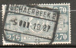 BELGIQUE Colis Postaux 2,70f Gris 1923-31 N°153 - Chemins De Fer