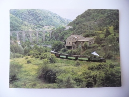 Cpm - Train - Ligne Tournon-Lamastre - Chemin De Fer Du Vivarais - Pont De Duzon - Treni