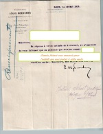 Entête Du 12/05/1919 LOUIS ROEDERER  Champagne - Reims Paris - Alimentare