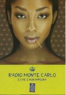 PUBLICITE RADIO MONTECARLO E CHIC E NON IMPEGNA  VISAGE FEMME SUPERBE  EDIT. PROMOCARD 5824 - Reclame