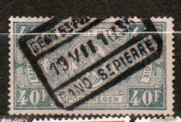 BELGIQUE Colis Postaux  40f Gris 1923-31 N°165 - Chemins De Fer