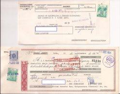 Letra De Cambio Con Sellos Fiscales, 5 Pts. Verde X2 (lote Tris) - Letras De Cambio