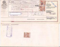 Letra De Cambio Con Sellos Fiscales, 15 Pts. Marrón X2 - Letras De Cambio