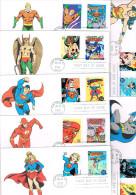 U.S.A. : Rare Ensemble De 10 FDC BD-Comics. Illustrés Et Oblitérés à San Diego En 2006. - Fumetti