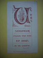 - Image Pieuse  - Abbaye De St Vincent De Chanzelle - Sauxillanges - 1952  - - Images Religieuses