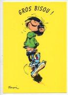 REF 126 : CPM GROS BISOU Franquin Gaston Lagaffe - Comicfiguren
