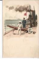 BATEAU - Am Torpedo Lancierrohr - Cartes Postales