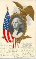 President George Washington , Eagle & US Flag , Pre-1907 - Présidents