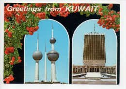 REF 129 : CPSM Greetings From Kuwait - Koweït