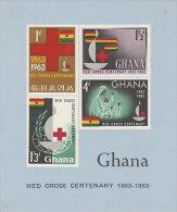 Ghana-1963 Red Cross Centenary Souvenir Sheet, Mint Hinged - Ghana (1957-...)