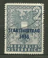 """Autriche Oblitéré ; Y & T N°850 ; """" Traité D'indépendance De L'Autriche """" - 1945-60 Used"""