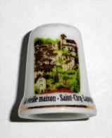 De A Coudre En Porcelaine  Vieille Maison Saint Cirq Lapopie - Dedales