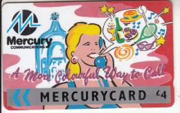 UK - Colourful Way To Call/Pink(MER106), CN : 25MERB, Tirage %76216, Used - United Kingdom