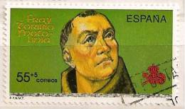 Spain Edifil # 3140 (o) V Centenario. Fray Toribio De Motolinía / Religion - 1931-Hoy: 2ª República - ... Juan Carlos I