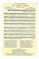 CPA 1915 JOURNEE Du POILU , Chanson LES AIGLES NOIRS , Voir Descriptif  Et Les 2 Scans , Militaria Guerre 14 18 - Guerra 1914-18