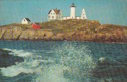 Maine York Beach Nubble Lighthouse 1960