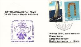Erstflug - Qatar Airways - Doha / Qatar - Madrid / Spain - 02.12.2005 [dt36b] - Qatar