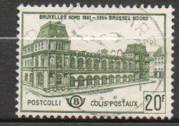 BELGIQUE Colis Postaux 20,00f Vert Clair 1959-63 N°366 - Chemins De Fer