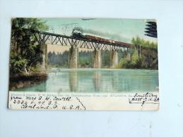 Carte Postale Ancienne : ATLANTA : Western & Atlantic R.R. Bridge Over The Chattahoochee River - Etats-Unis